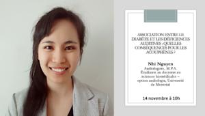 Conférence concernant le diabète et les acouphènes avec Nhi Nguyen